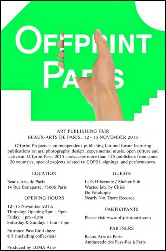 OFFPRINT PARIS 2015